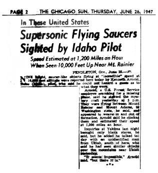 Chicago_Sun_1947-06-26-2_Flying_Saucer_headline-th
